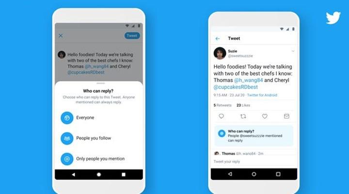 Twitter'a yeni özellik: Yanıt için üç seçenek