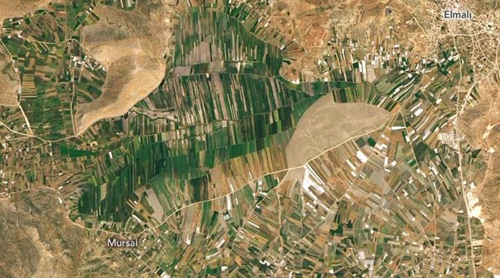 NASA, Antalya dağlarındaki tarım arazilerinin fotoğrafını paylaştı