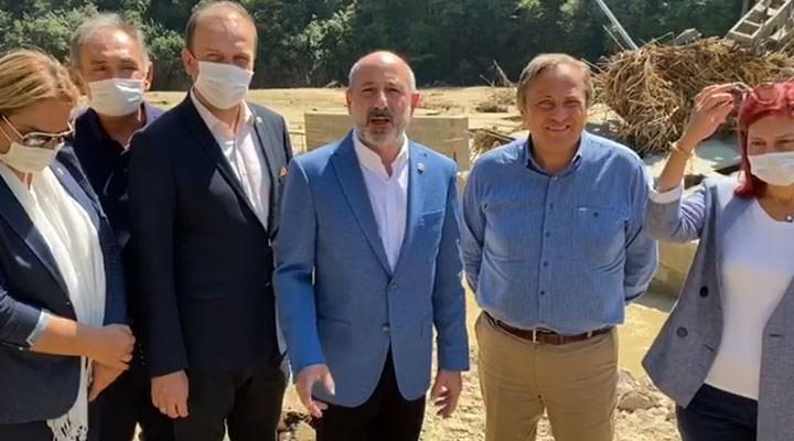 CHP heyetinden çöken HES önünde açıklama: AKP'liler gelsin buradaki zararı görsün