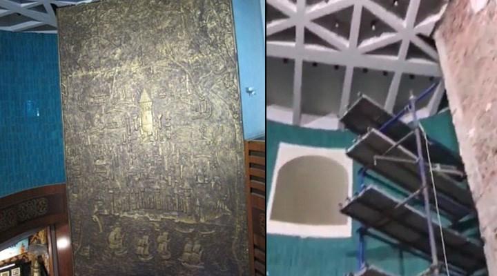Galata Kulesi'ndeki alçı rölyefe ne oldu?