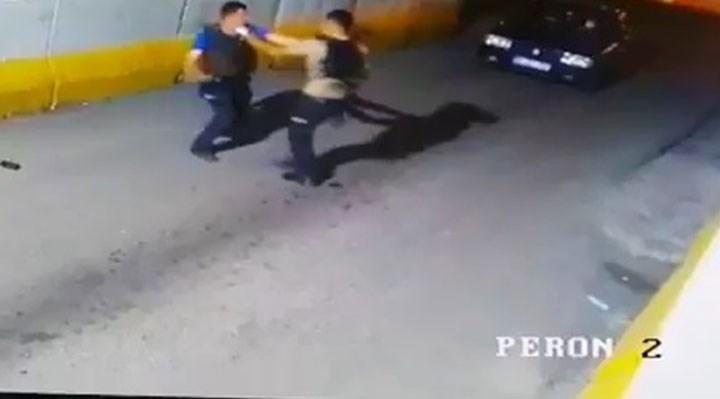 Polis memuru ile bekçi yumruk yumruğa kavga etti!