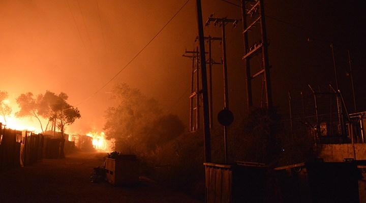 Moria sığınmacı kampında 2'nci yangın