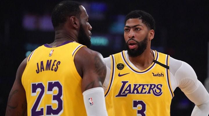 NBA play-off'ları: Lakers seride avantajı ele geçirdi