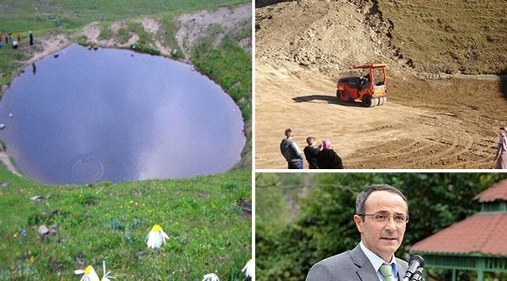 12 bin yıllık Dipsiz Göl'ün yok edilmesine yol veren müdür, kurban keserek görevine döndü!