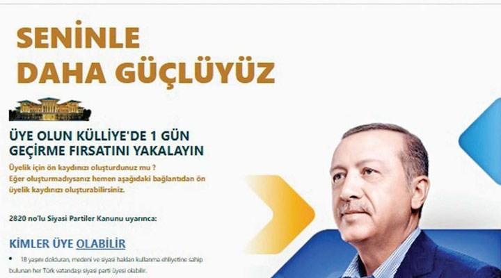 AKP'nin üyelik kampanyası tüm hızıyla sürüyor: Üye olun, Külliye'de 1 gün geçirme fırsatı yakalayın!