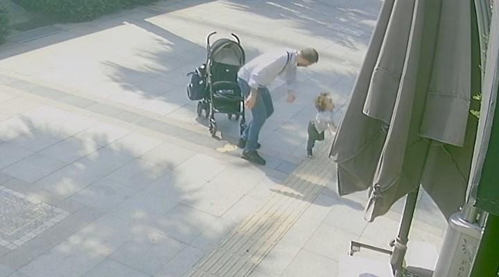 Bebek arabasından düşen çocuğuna şiddet uygulayan baba serbest bırakıldı