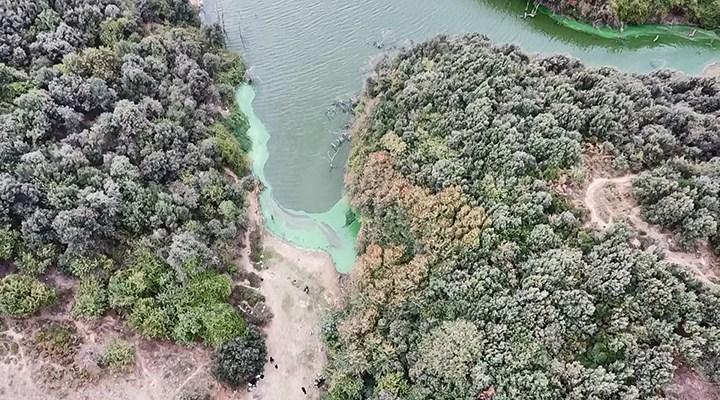 Eyüpsultan'da göle kimyasal atık boşaltıldı