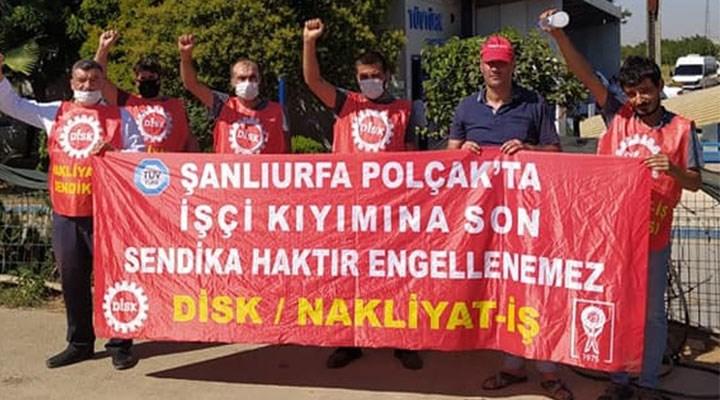 Urfa Polçak işçilerine sendikal tazminat