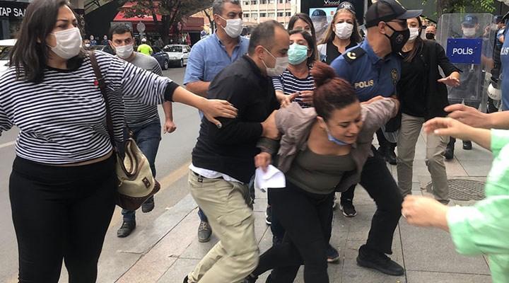 MEB'e rapor sunmak isteyen Halkevleri üyeleri gözaltına alındı