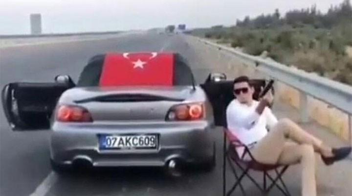 Otoyol kenarında havaya ateş açan sürücüye 1294 lira para cezası