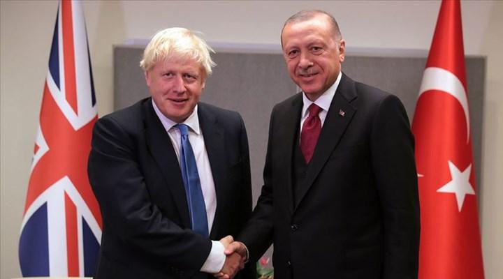 Erdoğan İngiltere Başbakanı Boris Johnson ile görüştü