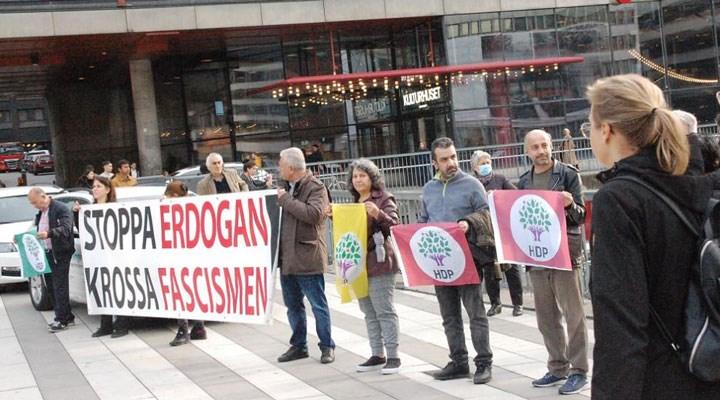 İsveç'te HDP'ye yönelik gözaltılar protesto edildi