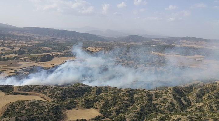 Denizli'de orman yangını: 1 hektarlık alan zarar gördü