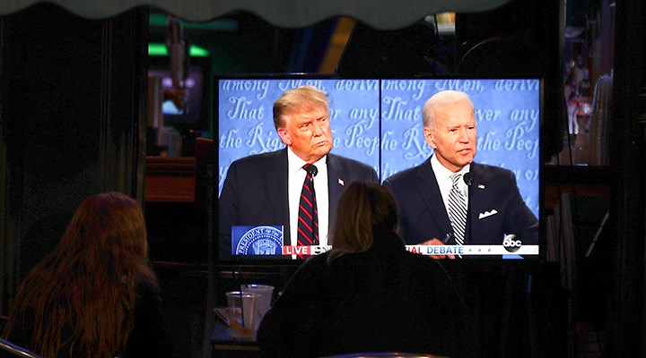 İlk televizyon tartışmasının galibi Biden
