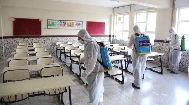 Aydın'da okullar dezenfekte ediliyor