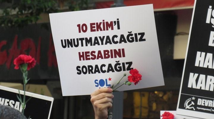 10 Ekim Katliamı'nda hayatını kaybedenler İzmir'de anıldı