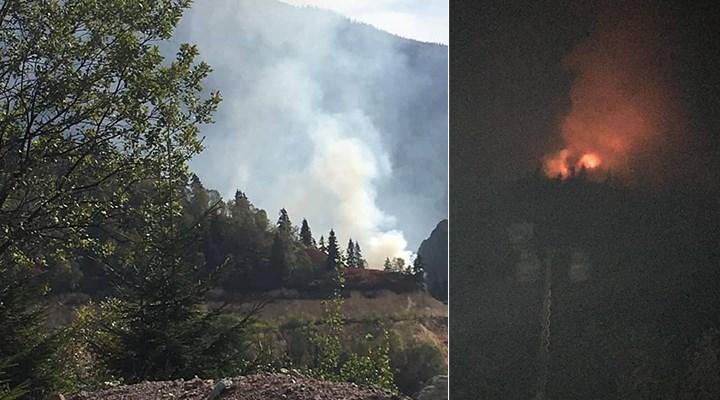 Cengiz Holding'in siyanür havuzu kurmak istediği alanda yangın: Müdahale edilmiyor