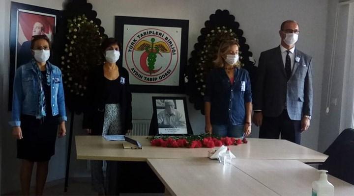 Koronavirüs nedeniyle hayatını kaybeden Aydın Tabip Odası Başkanı Esat Ülkü anıldı