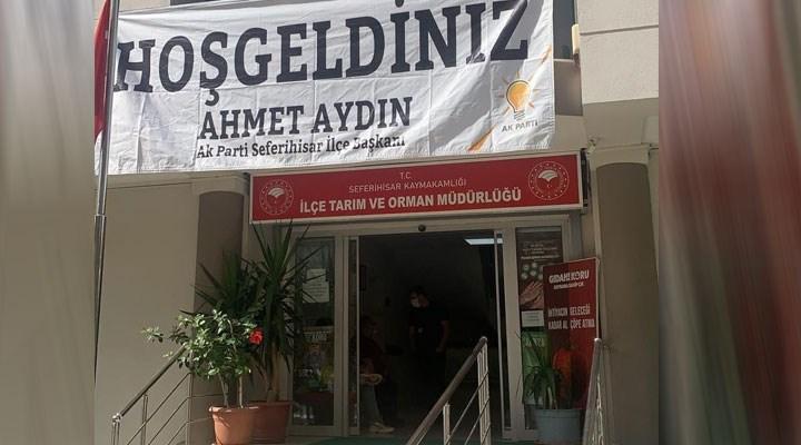 CHP'li Bakan'dan pankart tepkisi: Bu kare parti devletinin somutlaşmış halidir