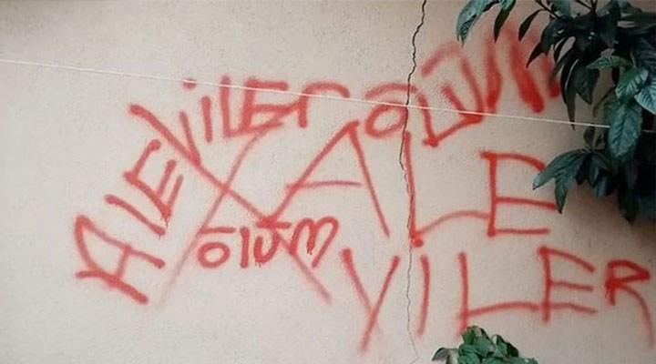 Apartman duvarındaki 'Alevilere ölüm' tehdidi hakkında soruşturma başlatıldı