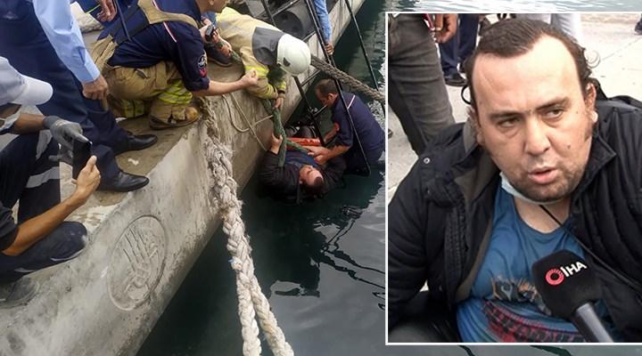 Denize düşen adama koronavirüs nedeniyle kimse el uzatmadı
