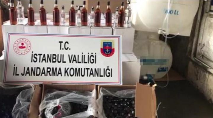 İstanbul'da jandarmadan sahte içki operasyonu