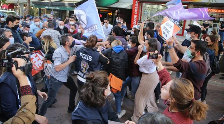 Ankara'da Halkevleri üyelerinin eylemine polis müdahalesi: Gözaltılar var