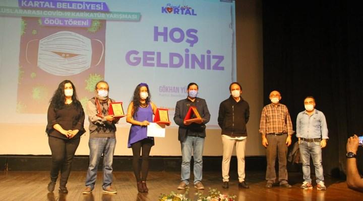 Kartal'da Covid 19 Karikatür Yarışmasının ödülleri sahiplerini buldu