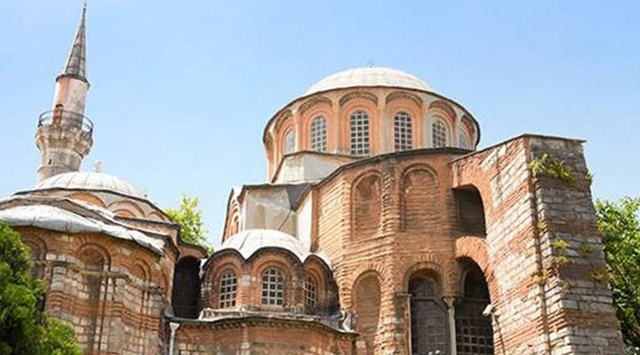 Camiye çevrilen Kariye'de tarihi fresk ve mozaikler kapatıldı
