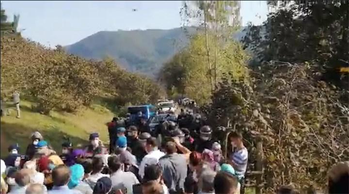 Ordu'da madenlere karşı çıkanlara biber gazlı müdahale: 10 kişi gözaltında