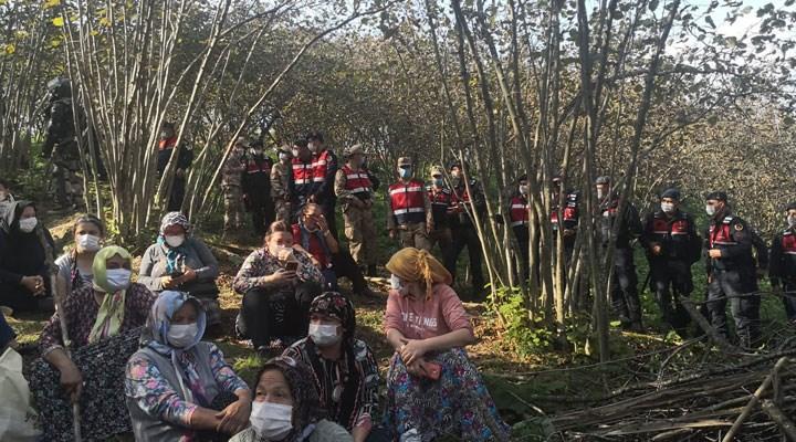 Jandarma ablukası altında olan Ünye'de direniş sürüyor:  Oturma eylemi başlattılar