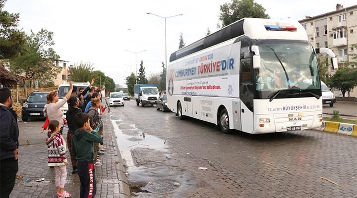 Aydın Büyükşehir Belediyesi'nin 29 Ekim otobüsü büyük ilgi gördü