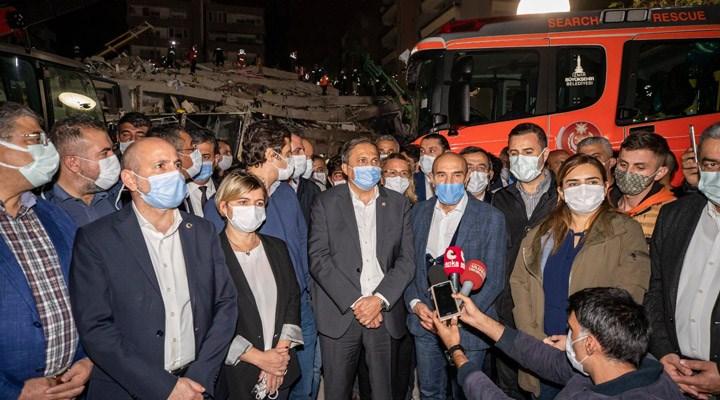 """CHP heyeti deprem bölgesinde: """"Maalesef yine depreme dayanıksız binalar göçmüş"""""""