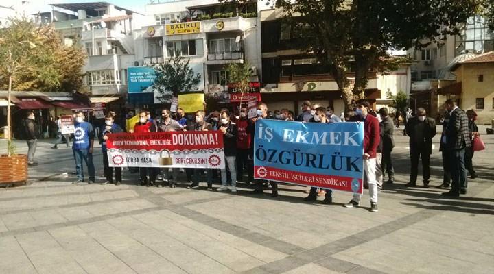 Emekçiler torba yasaya karşı Antep'te sokağa çıktı