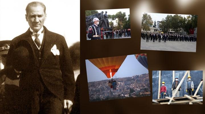 Yurttaşlar ülkenin dört bir yanında Atatürk'ü andı