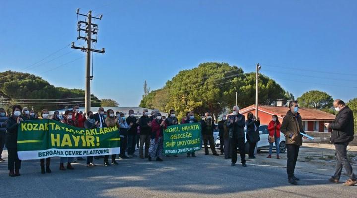 Bergama'da yurttaşlar ÇED toplantısına izin vermedi!