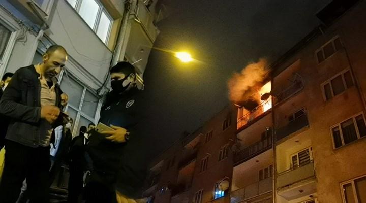 Yanan evini izleyen kişiye maske cezası kesildi
