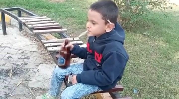 Küçük çocuğun eline içki sigara veren çocuklar gözaltına alındı