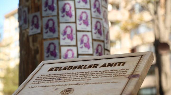 Öldürülen kadınlar için 'Kelebekler Anıtı' açıldı