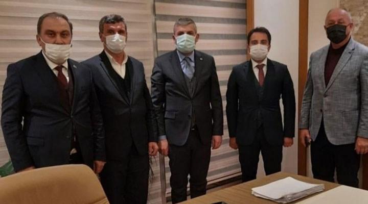 Kaymakamdan AKP il başkanına 'hayırlı olsun' ziyareti