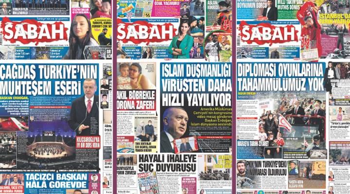 Erdoğan en az 106 kez Sabah'ın manşetine çıktı: Gazetecilik değil propaganda çabası