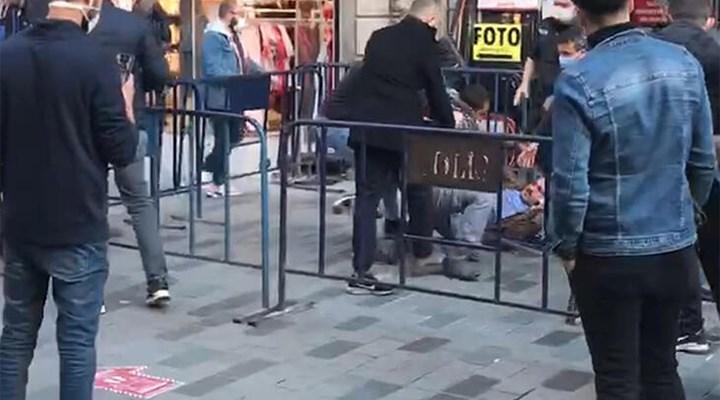 Sosyal mesafe kavgasını polis ayırdı