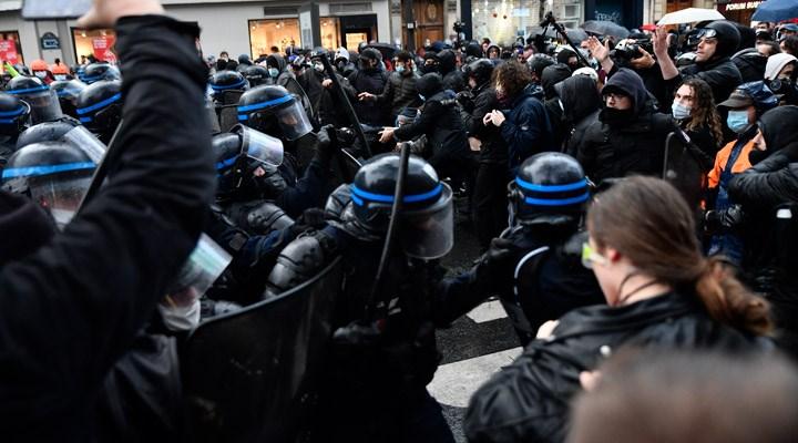 Fransa'dagüvenlikyasa tasarısı protesto edildi: 81 gözaltı