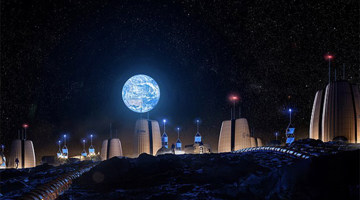 Avrupa Uzay Ajansı paylaştı: Ay'da inşa edilecek ilk evler