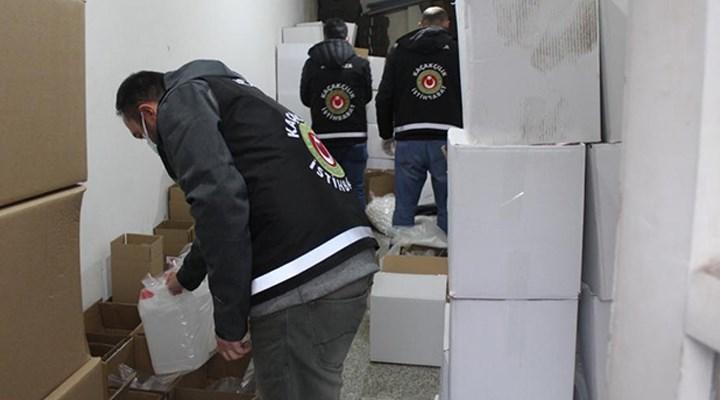 İzmir'de 21 ton sahte içki ele geçirildi
