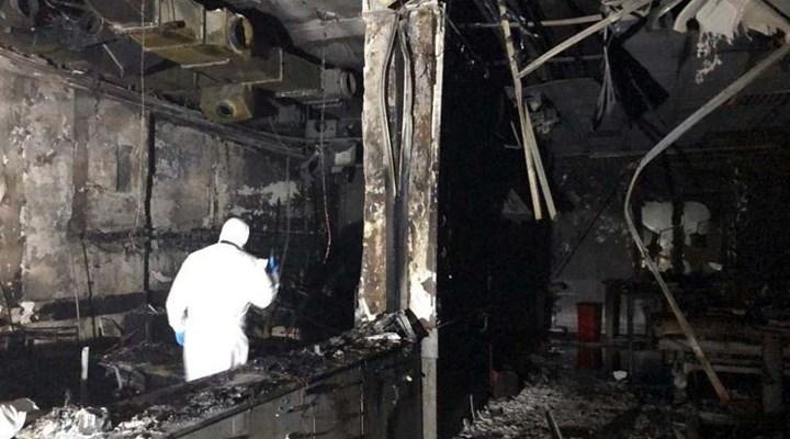 Antep'teki hastane yangını ihmaller sonucu meydana geldi