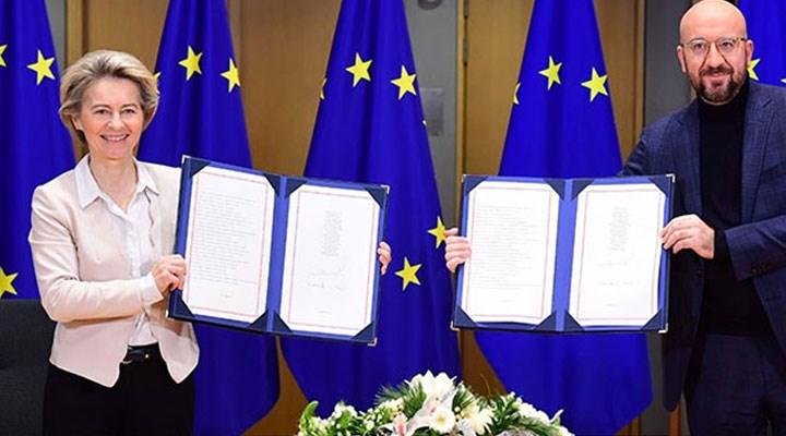 Avrupa Birliği ve İngiltere arasında Brexit sonrası ticaret anlaşması imzalandı