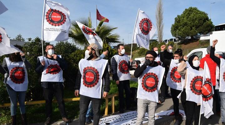 Migros depo işçileri direniyor