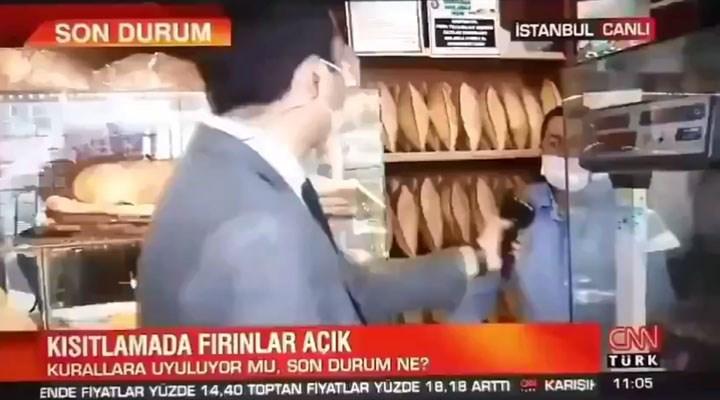 Fırıncıya halini soran CNN Türk muhabiri, cevabı duyunca mikrofonu geri çekti