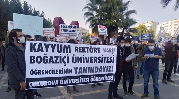 Çukurova Üniversitesi öğrencilerinden Boğaziçi eylemlerine destek